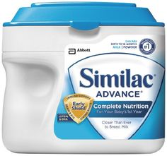 Similac Advance Complete Nutrition, Infant Formula, a great option that's closer than ever to breast milk for baby's first year. Similac Formula, Formula 1, Organic Formula, Complete Nutrition, Powdered Milk, Free Baby Stuff, Organic Baby, Organic Sugar, Organic Recipes