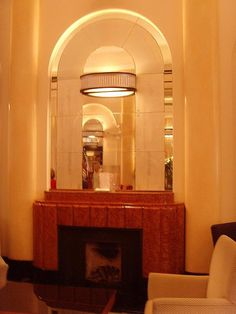 The Lansdowne Club London art deco interior - Art Deko Arte Art Deco, Art Deco Era, Art Deco Fireplace, Fireplace Design, Art Deco Stil, Art Deco Home, Art Nouveau, Interiores Art Deco, Streamline Moderne