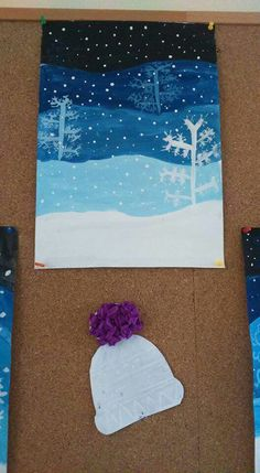 Trendy Ideas For Winter Art Projects For Kids Grades Winter Art Projects, School Art Projects, Projects For Kids, Elementary Art Rooms, Art Lessons Elementary, Dark Art Paintings, Primary School Art, Pam Pam, 4th Grade Art