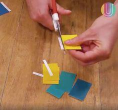 Aprende a hacer un práctico calendario con muestras de colores de pintura