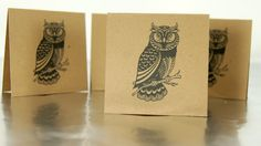 Blank Mini Cards Owl with Envelopes set of 8 MC22