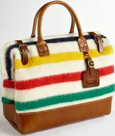 HBC stripe bag. $350 CND