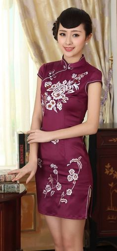 7914e460b478a 13 Best chinese hand embroidery cheongsam images in 2016 | Cheongsam ...