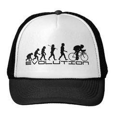 Cycling Cyclist Evolution Bicycle Bicycling Trucker Hat