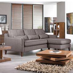 Click to zoom - Arden reversible corner sofa light grey