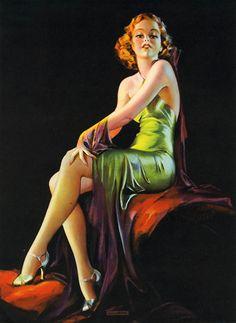 Irene Patten – Pin Up Calendar Art Irene, Girls Bathing Suits, Calendar Girls, Beautiful Redhead, Elegant Woman, Pin Up Girls, Green Dress, Art Deco, Bohemian