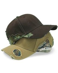 Outdoor Cap Frayed Camouflage Cap- BSH350