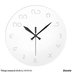 Telugu numeral clock