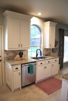 Kitchen Makeover: We Painted Our Dark Wood Cabinets White Using Sherwin  Williams Alabaster Proclassic Oil