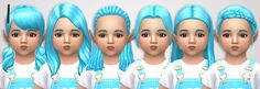 Sims 4 CC's - The Best: thirty-three cc toddler hairs recolors by noodlesc...