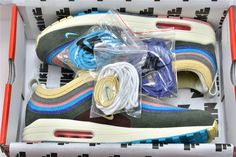 Shop Sean Wotherspoon x Nike Air Max On FitMySole. The Nike Air Max SW VF is restocking today for the first time. Air Max 1, Nike Air Max, Sean Wotherspoon, Light Blue, Pastel Blue