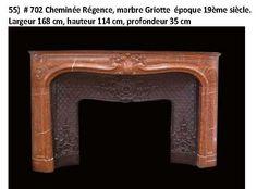 Fireplace regence style red marble 19e - Cheminées - Cheminées et décorations - Nord Antique