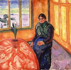Melancholy1911Stenersen Museum, Oslo, Norway. A gift from Rolf E. Stenersen to the city of Oslo - Edvard Munch