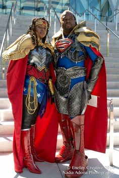 Character: Wonder Woman and Superman Cosplayers: Geninne John-Crosland and Aitch Cee Bishop EcaSeries: DC Comics