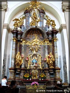 The shrine of the Infant Jesus at a side altar inside the Church of Our Lady Victorious, Prague