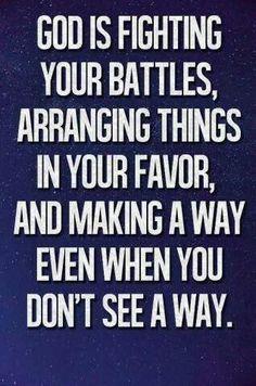 God is handling it!