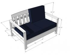 I want to make this!  DIY Furniture Plan from Ana-White.com  Simple, free, step by step project plans to build an outdoor loveseat inspired by Restoration Hardware Nantucket Collection. Featuring relaxed seating and sturdy styling, this inexpensive outdoor loveseat is stylish and comfortable.