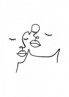 Beauty is in the eye by Nin Hol | metal posters - Displate Tatouage Femme, Visage, Gribouillages Artistiques, Mini Dessin, Dessin Trait, Idées De Broderie, Dessins Faciles, Minimaliste, Graphisme