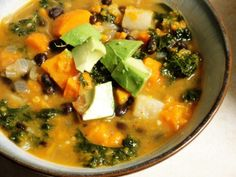 Roasted Vegetable and Kale Soup | Photo by Betsy B