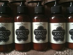 New labels Rosemary Tea, Rose Trees, Tea Tree, Hot Sauce Bottles, Natural Skin Care, Whiskey Bottle, Lotion, Drinks, Products