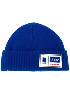 Shop online Ader Error logo patch beanie today with fast global shipping and free returns. Ader Error, Youth Culture, Caps For Women, Blue Wool, Knit Beanie, Caps Hats, Patches, Logo Design, Knits
