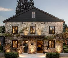 Restoration Hardware's Napa Valley Compound Is Its Most Luxe Design Yet - Exterior Design Napa Valley, Future House, My House, Living Haus, Stone Houses, Exterior Design, Exterior Paint, Modern Farmhouse, Luxury Homes