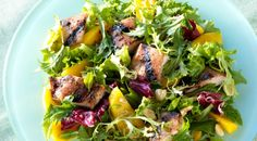 Healthy Chicken and Mango Salad is a perfect recipe for this summer!