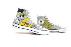 punk rock canvas shoes
