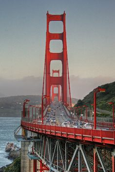 Golden Gate Bridge at sunset, San Francisco ,California (by Brad-Miller) via Flickr - Photo Sharing!