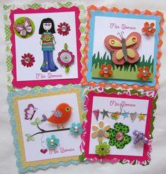 Tarjetas de presentación decoradas .  #Panamá Facebook Crafts by Iris  @craftsbyiris