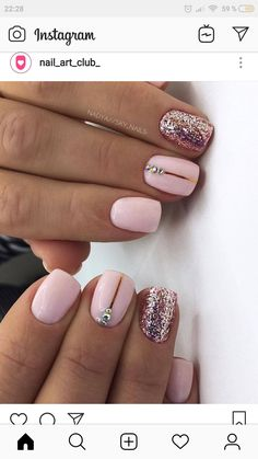 Want some ideas for wedding nail polish designs? This article is a collection of our favorite nail polish designs for your special day. Sky Nails, Glitter Nails, Light Nails, Light Colored Nails, Nail Polish Designs, Acrylic Nail Designs, Nails Design, Fancy Nails, Pretty Nails