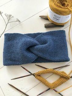 Knitting pattern – headband LIV – double-layer headband (toddler – adult) with knot look – Knit Headband Pattern, Knitted Headband, Knitted Hats, Ear Warmer Headband, Double Headband, Embroidery Needles, Ear Warmers, Pattern Making, Baby Knitting