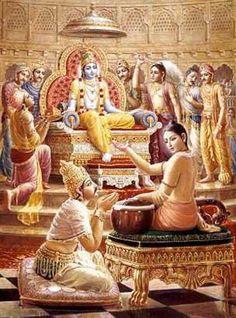 Lord Krishna Telling Ekadashi Importance to Pandavas: Krishna Avatar, Krishna Hindu, Krishna Leela, Hindu Deities, Hanuman, Shiva Art, Ganesha Art, Hindu Art, Lord Krishna Images