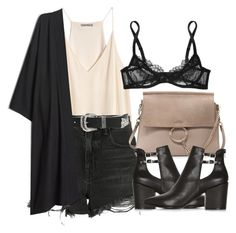 """Untitled #5622"" by laurenmboot ❤ liked on Polyvore featuring Alexander Wang, B-Low the Belt, Chloé, Topshop and L'Agent By Agent Provocateur"