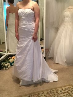 One of our beautiful dresses. Sizes 0-30. All dresses $300 or less. Near Asheville NC. #CandlerBudgetBridalShoppe
