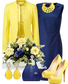 A fashion look from March 2013 featuring Paul Smith, Yellow Jacket and high heeled footwear. Browse and shop related looks. Elegant Outfit, Classy Dress, Classy Outfits, Chic Outfits, Beautiful Outfits, Dress Outfits, Fashion Dresses, Work Fashion, Fashion Looks