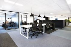 Corporate office designed by Metropolis arkitektur & design. Corporate Office Design, Conference Room, Table, Furniture, Home Decor, Homemade Home Decor, Mesas, Home Furnishings, Interior Design