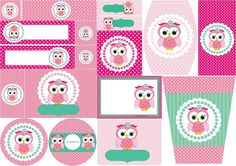Pink Owl Quinceanera: Free Printable Candy Bar Labels and Invitations. Owl Themed Parties, Owl Birthday Parties, Birthday Party Decorations, Candy Bar Wrapper Template, Candy Bar Labels, Printable Banner Letters, Free Printable Invitations, Free Printables, Owl Labels