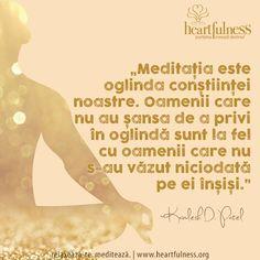 """""""Meditația este oglinda conștiinței noastre. Oamenii care nu au șansa de a privi în oglindă sunt la fel cu oamenii care nu s-au văzut niciodată pe ei înșiși."""" ~ Kamlesh D. Patel #hfnro   #inspiratii_zilnice   #heartfulness Heartfulness Romania - Google+"""