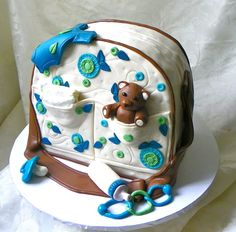Baby Shower Diaper Bag Cake by Wildorchid