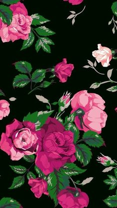 Black and pink flower wallpapers wallpaperpulse images find this pin and more on stampa by wow by julliah tonaco mightylinksfo