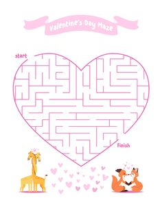 Make Valentine's Day even more fun for your children when you do all these Valentines day activities for kids. There's bingo, coloring pages, I spy & more! Rainy Day Activities For Kids, Outdoor Activities For Kids, Fun Activities, Valentine Crafts For Kids, Valentines Day Activities, Kids Crafts, Mazes For Kids Printable, Boredom Busters For Kids, Coloring