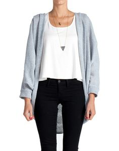Triple Pleat Knitted Cardigan - Pale Blue | 2020AVE