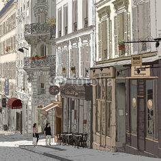 Even if you don't have a Paris apartment you can have a Paris wall mural!