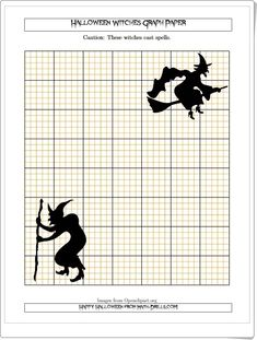 Halloween Witches 5 lines/inch Graph Paper Happy Halloween, Halloween Witches, Halloween Math Worksheets, Math Drills, Graph Paper, Homeschool, Halloween Math, Halloween Games, Interactive Activities