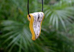 Dali Inspired Melting Clock Pendant