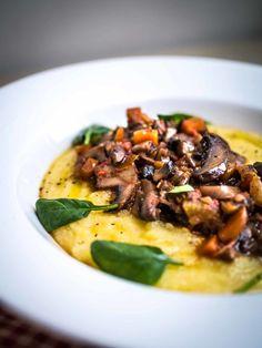 Mushroom Ragu with Creamy Polenta   Discover Delicious   www.discoverdelicious.org   Vegan Food Blog