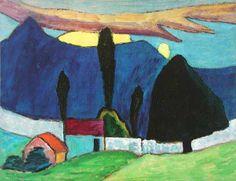 Paisaje con muro blanco (1910) Gabrielle Münter