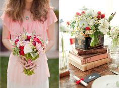 Summer Days – Rustic Picnic Wedding Inspiration  This look combines a soft wildflowers, inspired bouquets of daisies and wild strawberries, with red gingham and pretty ribbons. It's the perfect informal look for a summer celebration.