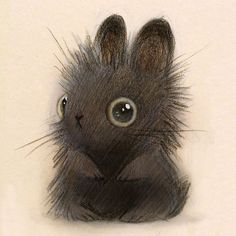 A fuzzy bunny by Heather Gross